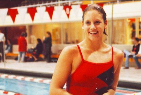 Kelley Taber, '84, was co-captain of the 1987-88 Harvard women's swim team.