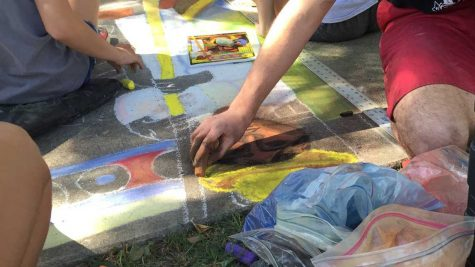 Student artists to recreate Rhett Thurman painting while enjoying food trucks, live music and crafts at Chalk It Up