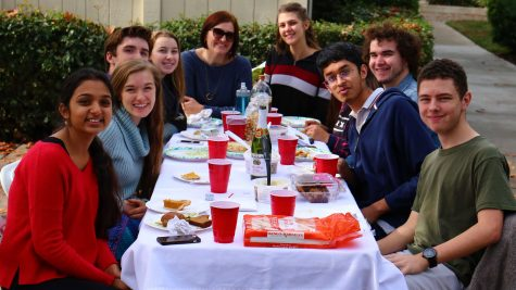 Students share food and give thanks during annual Thanksgiving lunch (slideshow included)