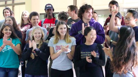Seniors announce college decisions at lunch (video included)