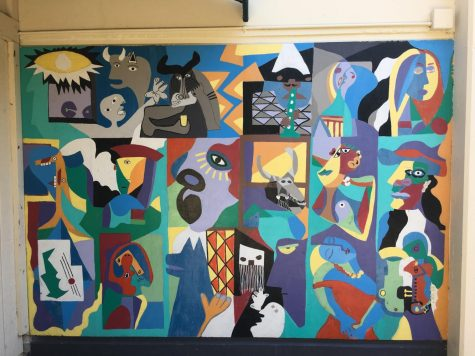 PICASSO PAINTED OVER: School paints over three longtime student-created murals before year begins