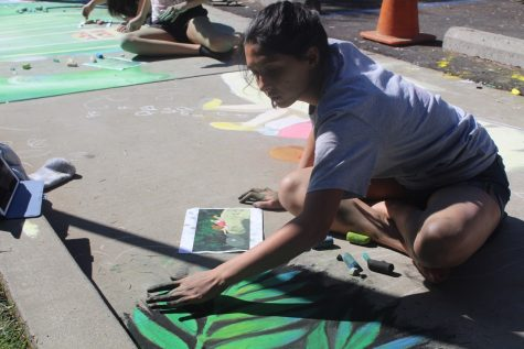 NAHS chalk mural honors Hayao Miyazaki of Studio Ghibli, iconic anime films (video included)