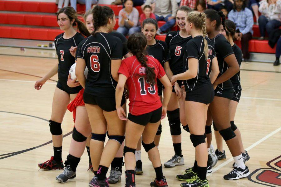 Varsity girls vanquish the Knights in homecoming game