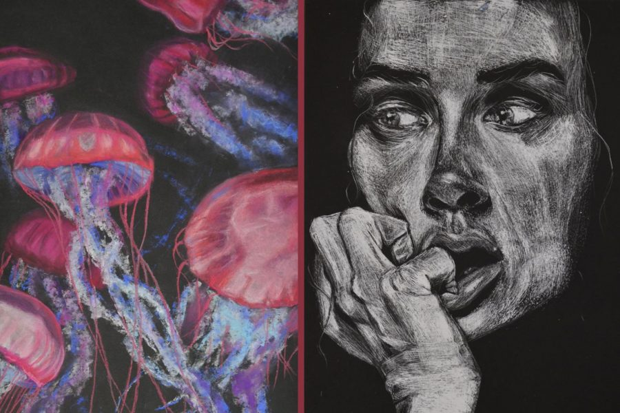 Senior submits art pieces to California State Fair Student Showcase, places first, second in drawing category